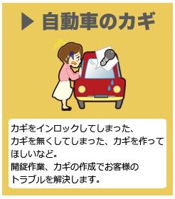 自動車のカギ